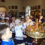 «Ушаковцы» посетили храм.